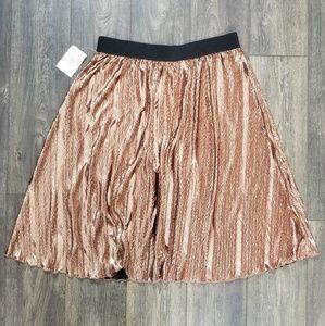 Lularoe Gold Black Pleated Skirt 2XL